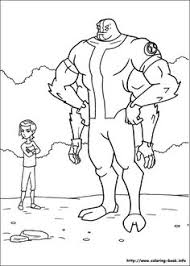 ben ten coloring pages print cartoon ben 10