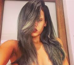 hairstyles with grey streaks bored of your hair already rihanna says cork screw you to grey