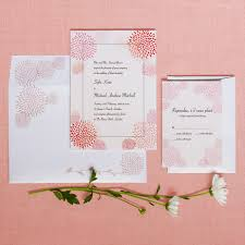 Wedding Card Invitations Wedding Card Design Pink Dahlia Flower Drawing Decoration