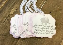 elephant baby shower favor tags baby shower party favor tags