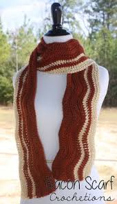 knitting pattern bacon scarf free pattern tuesday bacon scarf bacon scarves and crochet