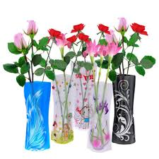 beautiful fordable flower vase diy pvc vase home decoration random