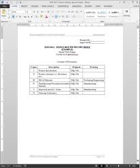 Index Template device master record index template