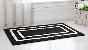 White Bathroom Rug Marvelous Bathroom Rugs Black And White 12 Images Home Rugs Ideas