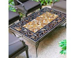 Mosaic Patio Tables Knf Designs Rectangular Mosaic Tiled Coffee Table