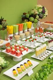 fruit table display ideas creative veggie platter displays food buffet shindig party shower