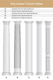 architectural columns fiberglass columns frp columns pvc