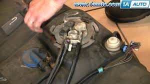 how to install replace fuel pump and sending unit chevy malibu 99