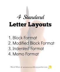 layout of business letter writing basic letter writing format four standard layouts letter writing