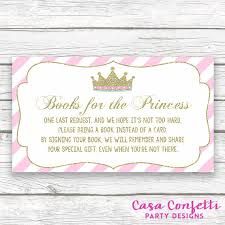 bring a book instead of a card baby shower insert by casaconfetti