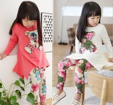 buy quality children fall clothing fashion flower floral 3d bear