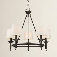 Jefferson 9 Light Chandelier Traditional - fabric shades soften the look of the glastonbury chandelier and