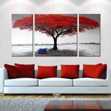 hand painted the first snowflakes 3 piece gallery wrapped canvas art