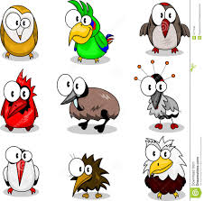 collection of cartoon birds royalty free stock image image 9717496