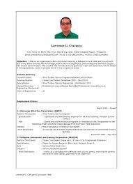Casino Dealer Resume Cv Lawrence Corcuera