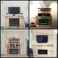 traditional to modern fireplace makeover candice sone