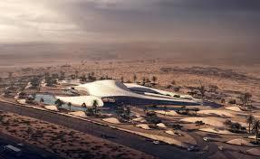zaha hadid u0027s sweeping design for bee u0027ah u0027s headquarters rises from