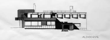 side view drawing villa mairea alvar aalto 2011 by