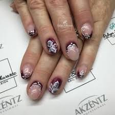 marble gel nails orange gel polish nail art pinterest
