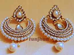 danglers earrings design buy rajwara pearl chaandbali danglers runjhun