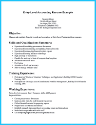 sample resume entry level accounting position how to write a for