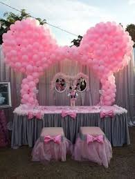 Centerpieces For Minnie Mouse Party by Minnie Mouse Balloon Decorations Birthday Idea Pinterest