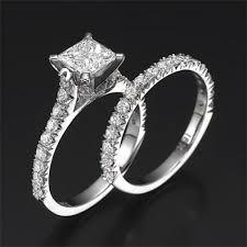 princess cut cubic zirconia wedding sets swarovski pb wedding bridal set felicienne premier 1 carat