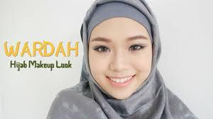 review tutorial make up natural wardah wardah one brand tutorial review hijab makeup look eng sub