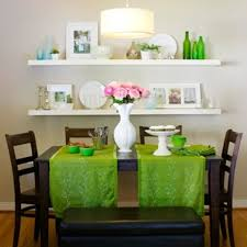 Wonderful Dining Room Decorations Inspired By Colors Of Spring - Dining room wall shelves