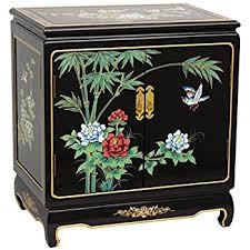 amazon com oriental furniture black lacquer end table kitchen