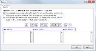 how to insert page numbers in excel 2016 2010