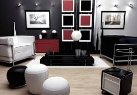 modern living room black and red design home design ideas