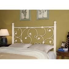 iron beds and headboards full queen white metal headboard with