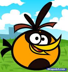 draw orange angry bird orange bird angry birds step