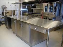 Stainless Steel Bench Top Stainless Steel Commercial Kitchen Cabinets Intended For Your