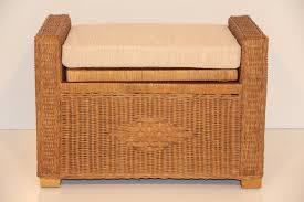 rattan wicker ottoman footstools with storage