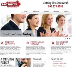 congrats on your new site canadian security training web design