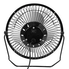 Small Metal Desk Fan 6 Inch Usb Mini Fan Black