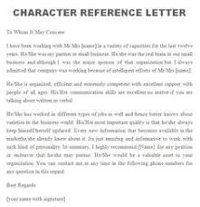 Character Reference Letter For Court Speeding letter of character template several exles of