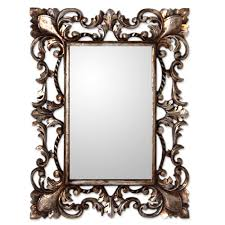 Wood Mirror Frame Vintage Style Mirror And Wood Frame With Silver Gilt Antique