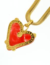 heart necklace red images Givenchy vintage red heart necklace from amarcord vintage fashion jpg