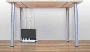 how to organize cables under desk plug hub simplifies under desk power cable management tested