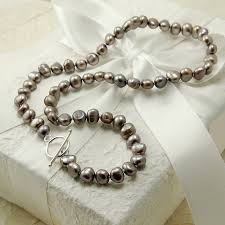 freshwater pearl necklace jewelry images Freshwater pearl necklace with silver clasp by highland angel jpg