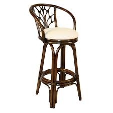 Bar Stool With Cushion Furniture Antique Brown Swivel Bar Stools With Back Matched With
