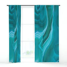 Green Striped Curtains Green And Blue Curtains Modern Chenille Blackout Blue Olive Green