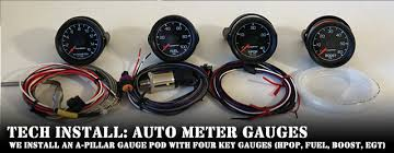 tech install auto meter helps us monitor the important things