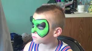 green lantern face painting marvelous masks chicago face painter