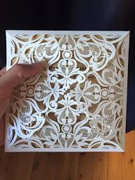 wedding invitations reviews graceful ivory shimmery laser cut wedding invitations ewws023 as