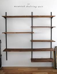 Wood Shelving Designs Garage by Wall Shelves Design Wall Mounted Shelving Systems For Garage Wall