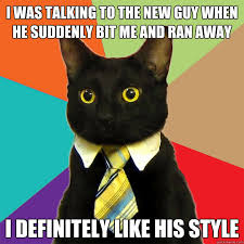 The New Meme - i was talking to the new guy cat meme cat planet cat planet